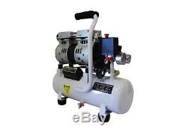 1/2 HP, 2.4 Gallon, Oil Free & Noiseless Dental Air Compressor (110v)