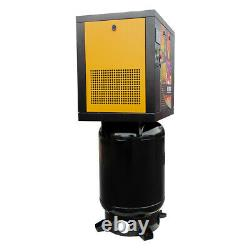1 Phase 7.5HP Rotary Screw Air Compressor 29cfm@125psi with 60 Gallon ASME Tank