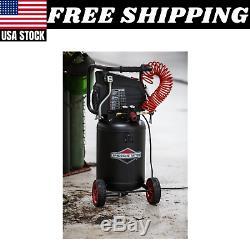10 Gallon 1.8HP 150 PSI Vertical Oil Free Air Compressor Large Wheels Black NEW