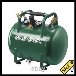 10 Gallon 225 PSI Portable Jobsite Air Storage Tank Steel Compressor Drain Valve