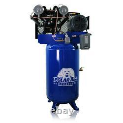10HP Air Compressor V4 Single Phase 80 Gallon Tank Vertical