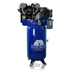 10HP Air Compressor V4 Single Phase 80 Gallon Tank Vertical Air Compressor