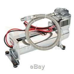12 Volt 200 PSI Air Compressor 3 Gallon Air Tank Gauge Kit For Truck Boat Train