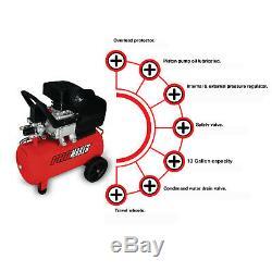 13 Gallon Air compressor. 2HPMax 115PSI. PROMAKER. PRO-CP50. Overload protector