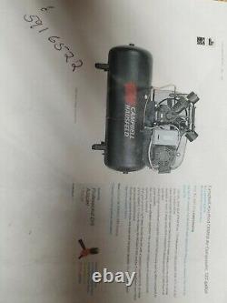 15hp Campbell Hausfeld 120 gallon air compressor 230-460 3 phase 175 max psi
