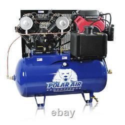 18HP Gas Air Compressor 30 Gallon Tank Honda Motor Electric Start