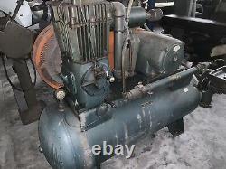 1964 Quincy 350 Air Compressor 10 HP 3-Phase 120 Gallon Tank
