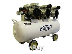2.25 HP, 17 Gallon, Oil Free & Noiseless Dental Air Compressor (110v)
