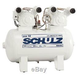 2 HP Single Phase, 30 gallon, 12 CFM Oil Free Schulz Air Compressor