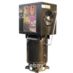 230V 1 Phase 7.5HP Rotary Screw Air Compressor 175psi + 60 Gallon ASME Air Tank