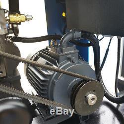 230V 3-Ph Rotary Screw Air Compressor with 80 Gallon Air Tank & Air Dryer 39cfm