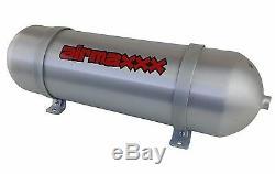 24 Seamless Aluminum Air Tank Brushed Spun 3 Gallon 6 Port Air Ride Suspension
