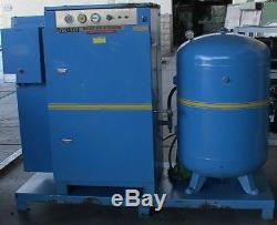 25hp Bauer Rotary Screw Air Compressor+120 gallon tank