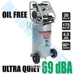 26 Gallon Air Compressor Ultra Quiet Series 175 PSI Vertical Auto Professional