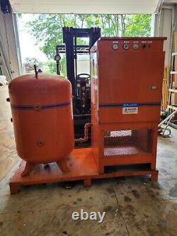 26hp Bauer Rotary Screw Air Compressor 120 gallon tank