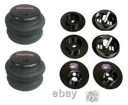 3 Preset Pressure Complete Bolt Air Ride Suspension Kit 65-70 Cadillac 480 Black