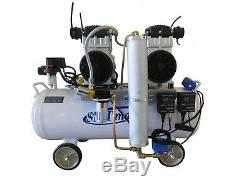 3HP, 18 Gallon, Oil Free & Noiseless Dental Air Compressor (220v)