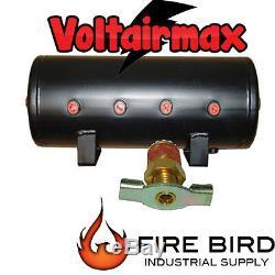 5 Gallon Air Tank 8 Port Air Ride Suspension Compressor System Voltairmax