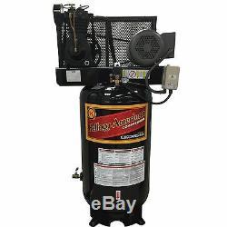 5 HP Kellogg American Vertical Air Compressor, Single Phase, 80 Gallon, 335 Pump