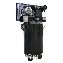 5 HP Single Phase Air Compressor 80 Gallon Tank 20 cfm 175 psi 220V Vertical