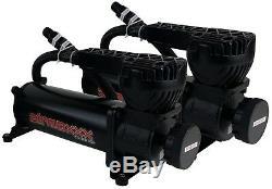 5 gallon aluminum air tank brushed & dual air compressors 580 black airmaxxx