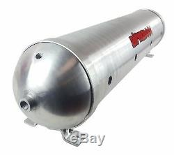 5 gallon aluminum air tank raw finish & dual air compressors 580 chrome airmaxxx