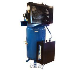 5HP Air Compressor Single Phase 2 Stage 80 Gallon Tank Vertical Compressor Quiet