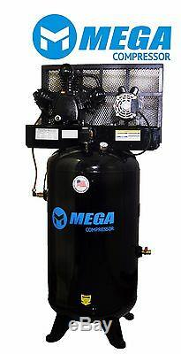 6.4 HP MegaPower Vertical Air Compressor, 1 Phase, 80 Gallon, 2 Stage, MP-6580V