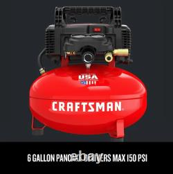 6-Gallon Single Stage Portable Electric Pancake Air Compressor