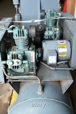 60 Gallon Twin FS Curtis Challenge Air E-23 Pumps, 3 Phase Air Compressor