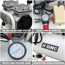 650W 2 Gallon Ultra Quiet Air Compressor Oil-Free Pump 3.9 CFM@125PSI Silent