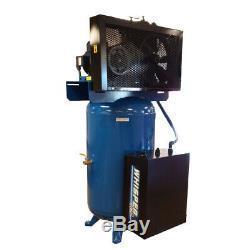 7.5 HP Quiet Single Phase 80 Gallon Tank Vertical Air Compressor