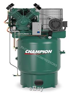 7.5 Hp, 230-1 Ph, 80 Gallon Vertical Air Compressor Fully Packaged 25.8 Cfm