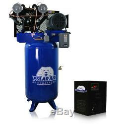 7.5HP Air Compressor with 30 CFM Dryer Package V4 Single Phase 80 Gallon Tank
