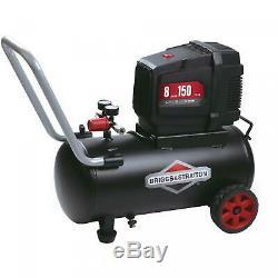 8 Gallon 150-PSI Hotdog Oil Free Air Compressor Spray Gun Briggs NEW