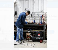 8 Gallon 150 PSI Hotdog Oil-free Air Compressor Spray Gun, Briggs & Stratton