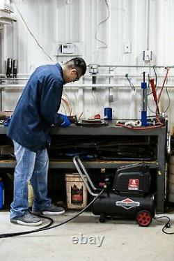 8 Gallon Hotdog Portable Oil-free Air Compressor 1.5 running HP Universal motor