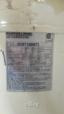 80 Gallon Air Compressor 230V Ingersoll Rand Model 2475 7.5 HP