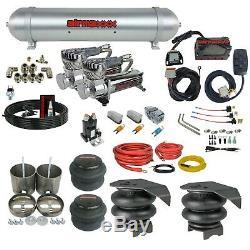 99-06 Chevy 1500 Air Ride Suspension Kit Manifold 580 Dual Compressor Spun Tank