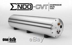 ACCUAIR ENDO-CVT 4 Valve 5 Gallon Raw Aluminum Air Tank / Compressor / Valve