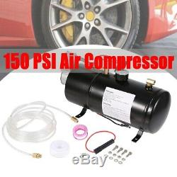 AIR COMPRESSOR With 0.8 Gallon(3L) TANK FOR TRAIN HORN MOTORHOME TIRES 12V 150PSI