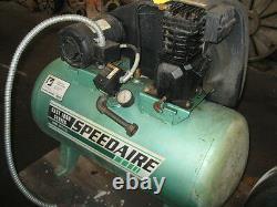 Air Compressor 3 HP Speedaire 4B237B, 9.4 CFM, 135 PSI, 30 Gallons, 1997