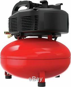 Air Compressor, 6 gallon, Pancake, Oil-Free with 13 Piece Accessory Kit