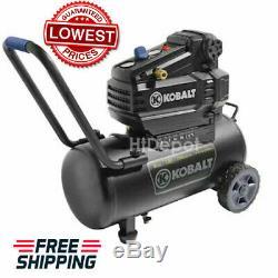 Air Compressor 8 Gallon 1.8 HP 150 PSI 120 Volt Horizontal Portable Kobalt NEW