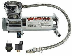 Air Compressor Chrome 400 airmaxxx 3 Gallon Air Tank Drain 150 on 180 off Switch