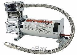 Air Compressor Chrome 400 airmaxxx 3 Gallon Air Tank Drain 90 on 120 off Switch