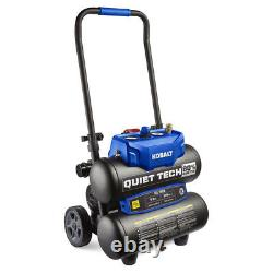 Air Compressor Single Stage Portable Electric Twin Stack Quiet Tech 4.3-Gallon
