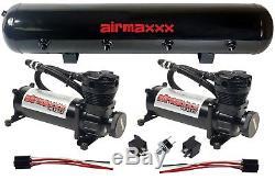 Air Compressors airmaxxx 480 Black 5 Gallon Tank Air Bag Suspension 180psi Kit