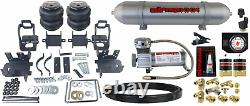Air Helper Spring Tow Over Load Kit Gauge & Tank Fits 1999-2004 Ford F250 F350