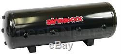 Air Ride Compressor Package Dual Airmaxxx Black 480 8 Gallon Storage Tank 200psi